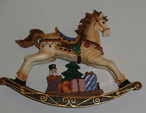 Festive Hand-Painted Rocking Horse Holiday Figure 11