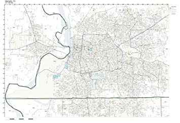 Amazon Com Zip Code Wall Map Of Memphis Tn Zip Code Map Laminated
