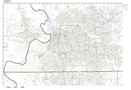 Zip Code Map Of Memphis Tn.Amazon Com Zip Code Wall Map Of Memphis Tn Zip Code Map Laminated
