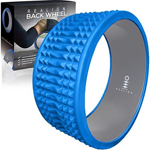 Realign Back Wheel: Back Pain Relief, Foam Roller (Blue/Grey)