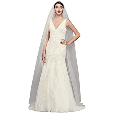 9591acc7cf72 Sample: As-is Pearl-Beaded V-Neck Mermaid Wedding Dress Style AI14010615 at Amazon  Women's Clothing store: