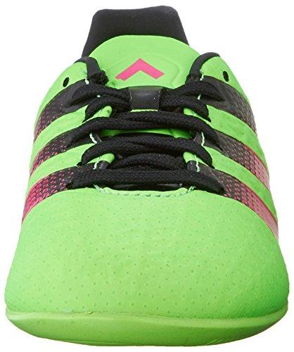 adidas Performance Ace 16.3en J fútbol zapatos (poco Kid/Big Kid) Green/Shock Pink/Black