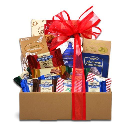 Jingle Bells Cookies and Chocolates Christmas Gift Basket