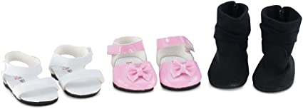 """Flower Sandals Hot Pink Or White 18/"""" Doll Clothes Fit American Girl Dolls"""