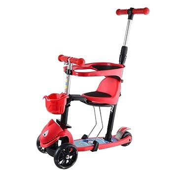 Amazon.com: YXGH@ Patinete para niños 5 en 1, 3 ruedas ...