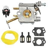 Buckbock Carburator for Homelite UT-10532 UT-10926 UT-10516 D3300 D3800 N3014 Ranger 20 23 B2216CC 33CC RYOBI RY74003D Chainsaw 300981002 A09159 000998271 A09159A Replace C1Q-601 C1Q-H42 Carb
