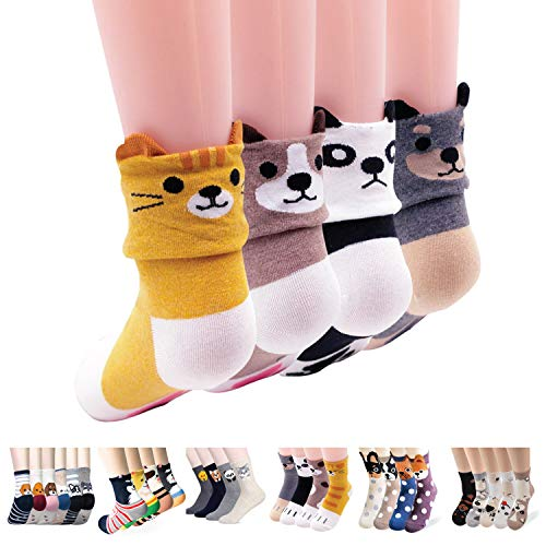 Stripe Dog Cool (Women's Casual Socks - Cute Crazy Lovely Animal Cat Dog Lover Christmas Gifts Idea (Paw Paw))