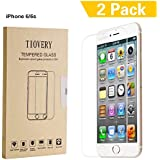 TIOVERY iPhone 6s Screen Protector,Tempered Glass Screen Protector for Apple iPhone 6 and iPhone 6s (2-Pack)