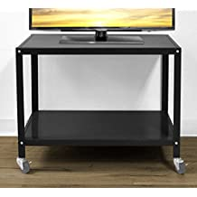 Urban Shop Rolling TV Cart, Black