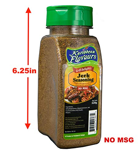 Premium Jamaican Jerk Seasoning - Grill delights, No MSG, 320g/11.5 Oz. (Jerk Seasoning Mild, 320gr) (Rub Jerk)