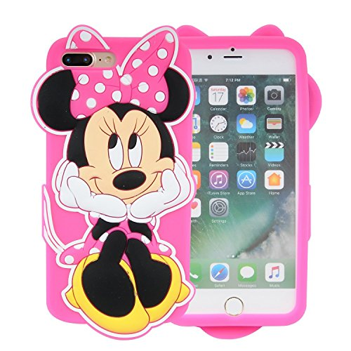 iPhone 7 Silicone Case,Emily Fashion Super Cute 3D Cartoon Character Meditation Mouse Protective Silicone Back Case Cover for iPhone 7 4.7 (Cartoons Characters)