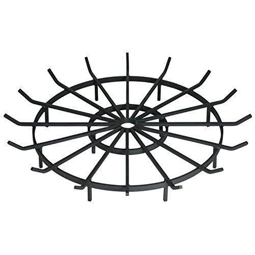 SteelFreak Wagon Wheel Firewood Grate for Fire Pit - Made in The USA (40 Inch) (Pit Grates Fire Custom)