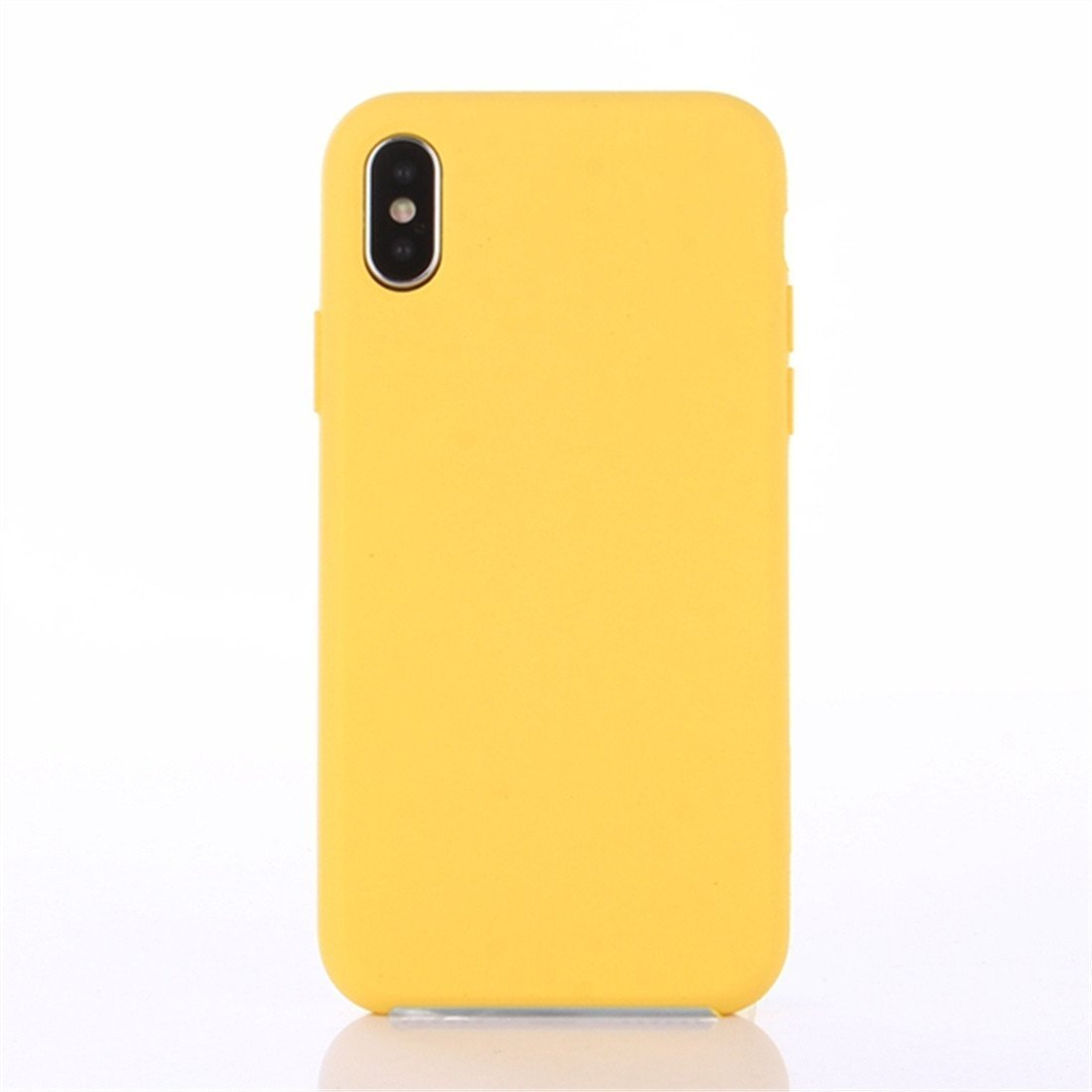 pretty nice 5167e f12b8 Nik case Silicone Case Back Cover for iPhone X (10) (Yellow)