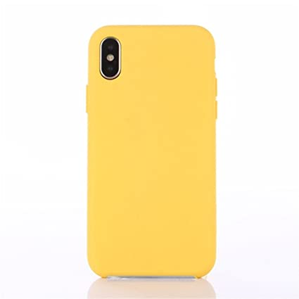 pretty nice 60700 07f69 Nik case Silicone Case Back Cover for iPhone X (10) (Yellow)