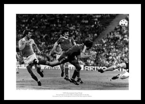 Framed Nottingham Forest 1979 European Cup Final Winning Goal Photo