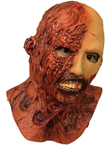 Zombie Full Head & Chest Halloween Latex Mask (free size)