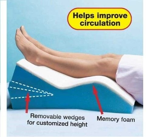 Memory Foam Adjustable Leg Wedge Positioner Pillow Elevator Improve Circulation