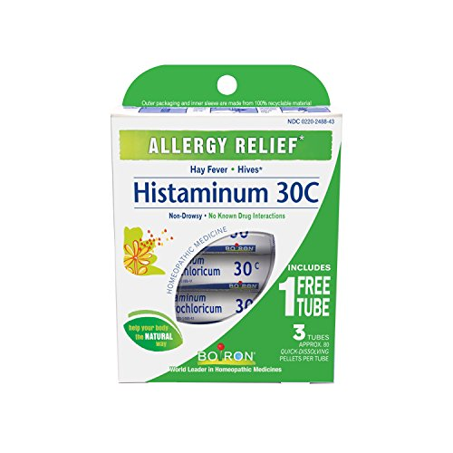 Boiron Histaminum Hydrochloricum 30C (Pack of 3 80-Pellet Tubes), Homeopathic Medicine for Allergy Relief