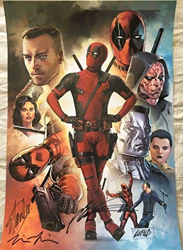 (Stan Lee Tim Miller Rob Liefeld signed auto Deadpool 2016 Comic-Con SDCC poster)
