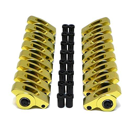 (Assault Racing Products ARA45417716 Big Block Chevy Polylock Aluminum Rocker Arms 1.7 Ratio 7/16 Stud BBC)