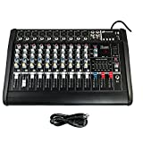 iMeshbean 2000 Watt 10 Channel Professional Powered Mixer Power Mixing Amplifier Amp 16DSP with USB Slot M#03 USA