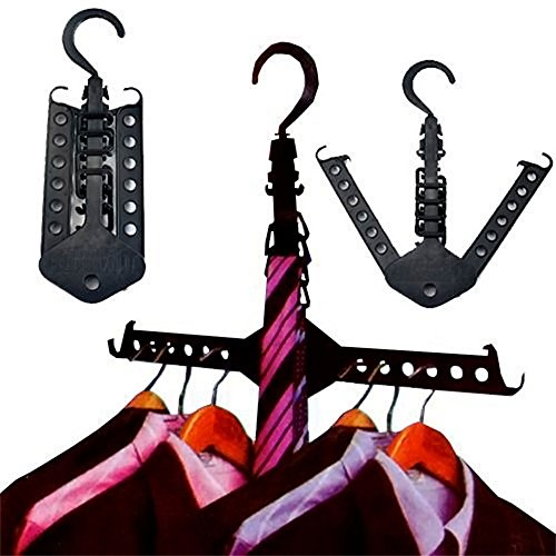 Price comparison product image Rinhoo Multifunction Magic Foldable Collapsible Clothes Hanger Home Camping Drying/Storage Hanging Clothes Rack for Clothes Shirts Sweaters Dress Hanger Hook Drying Rack