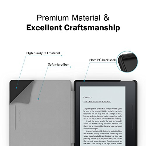 MoKo Case Fits All-New Kindle Oasis (9th and 10th Generation ONLY, 2017 and 2019 Release), Premium Ultra Lightweight Shell Cover with Auto Wake/Sleep - Wine Red