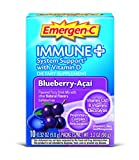 Emergen-C Immune+ (10 Count, Blueberry-Acai  Flavor) System Support Dietary Supplement Drink Mix With Vitamin D, 1000mg Vitamin C, 0.32 Ounce Packets