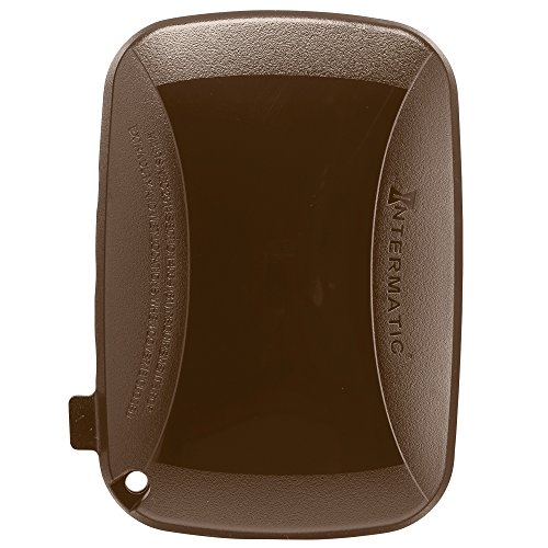 - Intermatic WP5100BR Extra Duty Plastic Weatherproof Cover, 2.75-Inch Single Gang, Bronze