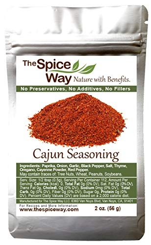 The Spice Way Cajun Seasoning - A traditional authentic spicy blend, rich with flavor 2 oz ... (Best Cajun Spice Brand)
