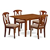East West Furniture MLNA5-SBR-C 5-Piece Kitchen Nook Dining Table Set Review