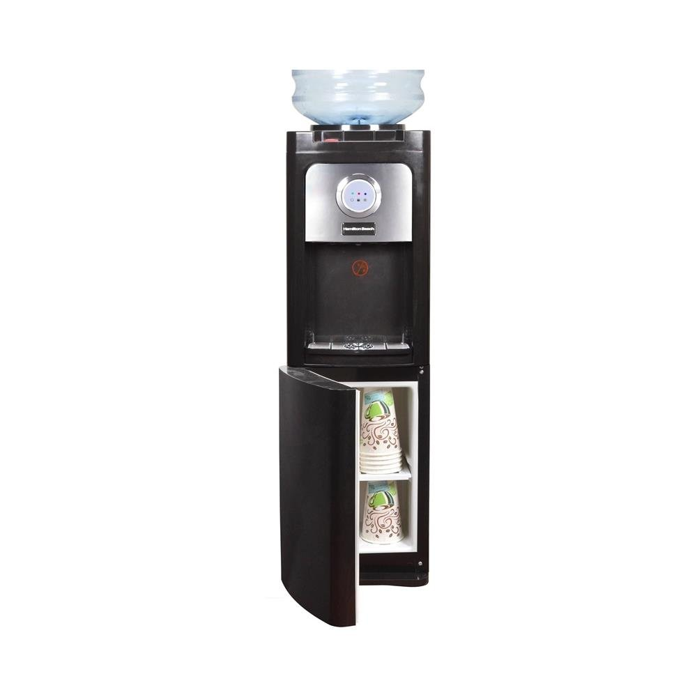 Hamilton Beach TL-5-5W Top Loading Water Dispenser with Storage Cabinet