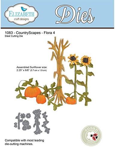 Flora 4 1083 Elizabeth Craft Designs CountryScapes Steel Die