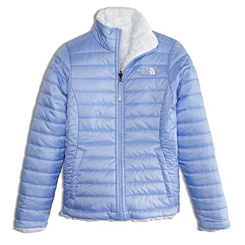 Hand Embroidered Ski (The North Face Kids Girl's Reversible Mossbud Swirl Jacket (Little Kids/Big Kids) Collar Blue Medium)