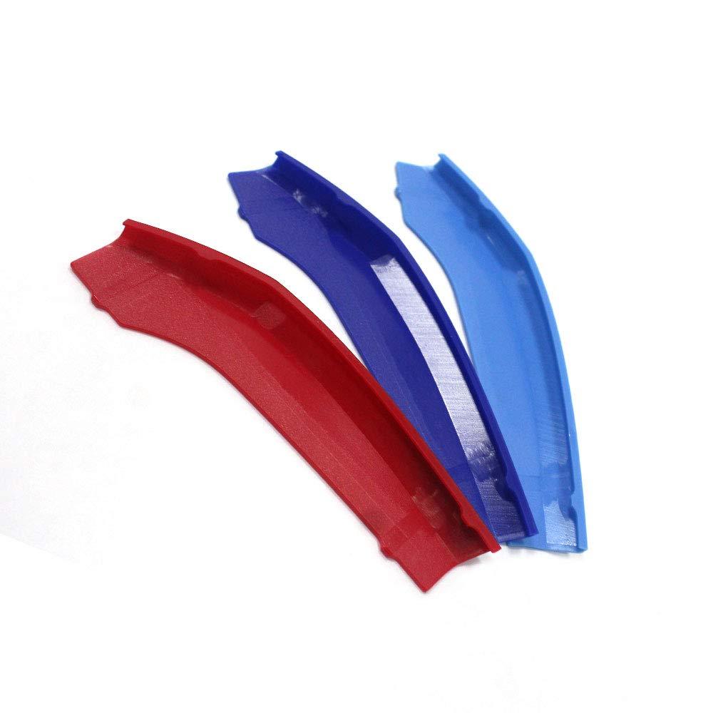 Pour 6 Series F06 F12 F13 2009-2015 M Couleur Avant Grille Garniture Kidney Clip Couverture Grill Rayure Trim Boucle D/écor 10 Grilles