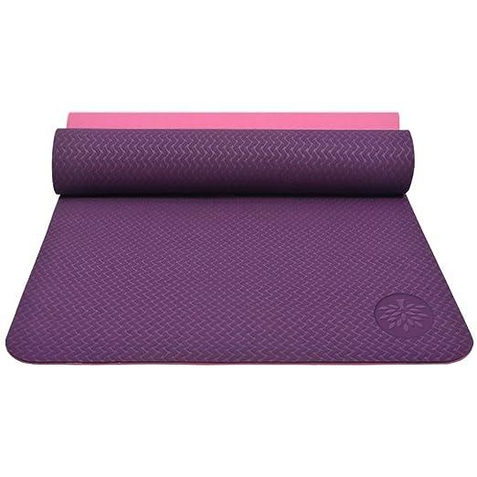 Queen Boutiques - Esterilla de Yoga (Antideslizante, 6 mm ...