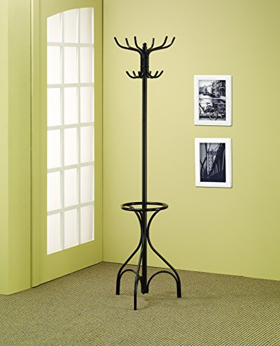 (Coat Rack with Umbrella Holder Black)
