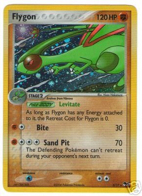 Pokemon Card POP #4 Promo 3/17 - FLYGON (holo-foil)