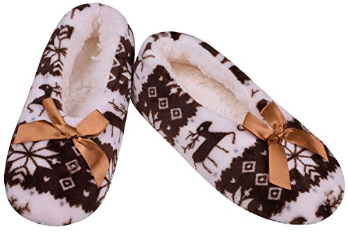 Pantofole Da Camera Da Letto Antiscivolo Morbide Pantofole Da Camera Da Letto Inverno Casa Birichino Muli Marrone