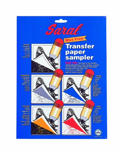 SARAL WAX-FREE Transfer (Tracing) Paper-SAMPLE PACK-Pack Contains 1 of Each Red, Blue, (Free Fabric Samples)