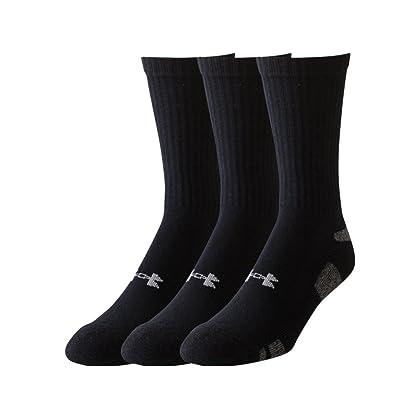 Under Armour Men's HeatGear Crew Socks (Pack of Three Pairs)