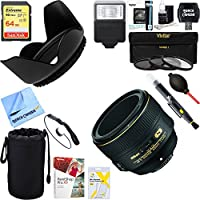 Nikon AF-S NIKKOR 58mm f/1.4G Lens (2210) + 64GB Ultimate Filter & Flash Photography Bundle