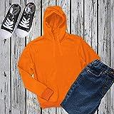 Miracle(Tm) Neon Orange Mens Pullover Hoodie