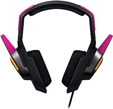 Overwatch OW D.Va - Auriculares de diadema para videojuegos, sonido estéreo de 3,5 mm, micrófono para Nintendo Switch, Playstation 4, MacBook, iMac, PS4, PC, iPhone: Amazon.es: Electrónica