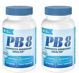 Nutrition Now Pb 8 Pro-biotic Acidophilus for Life -- 120 Capsules X 2