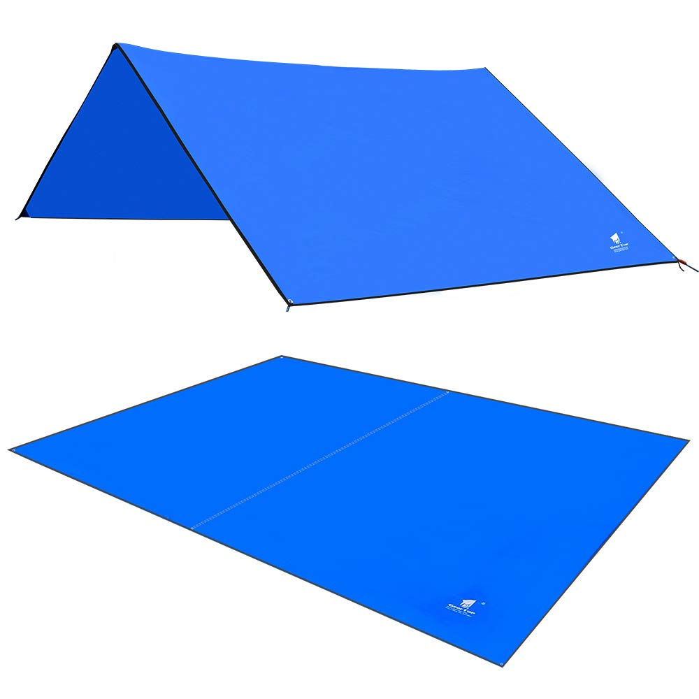 GEERTOP Portable Camp Tent Tarp Mat Footprint Tent Ground Cover Waterproof Hammock Rain Fly Sheet Canopy for Camping Hiking Picnic by GEERTOP