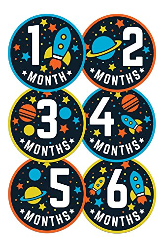 Wholesale Princess Space Theme Baby Monthly Stickers - Set of 12 ()