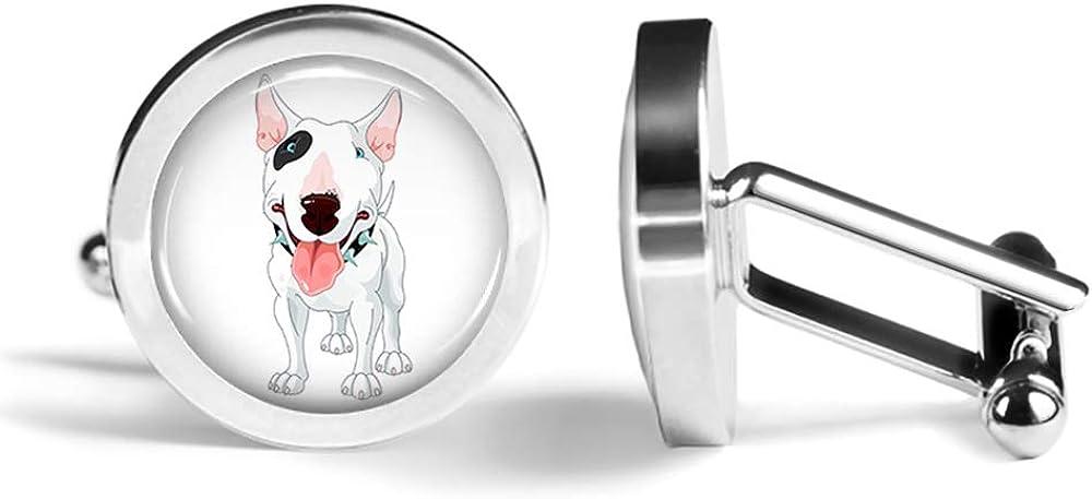 Angled Edition Oakmont Cufflinks Pitbull Cufflinks Dog Cuff Links