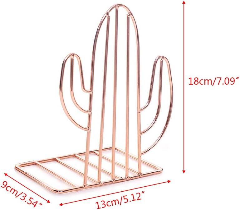 Kaktusform Metall 2 St/ück gold Buchst/ützen