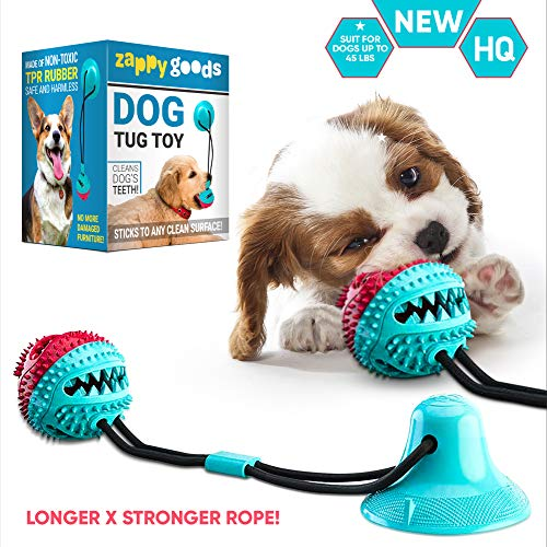 Zappy Goods Tug of War Dog Toy, Resistant Dog Tug Toy for Chewing, Tugging and Teeth Cleaning, Tug Toy for Dogs Dental…